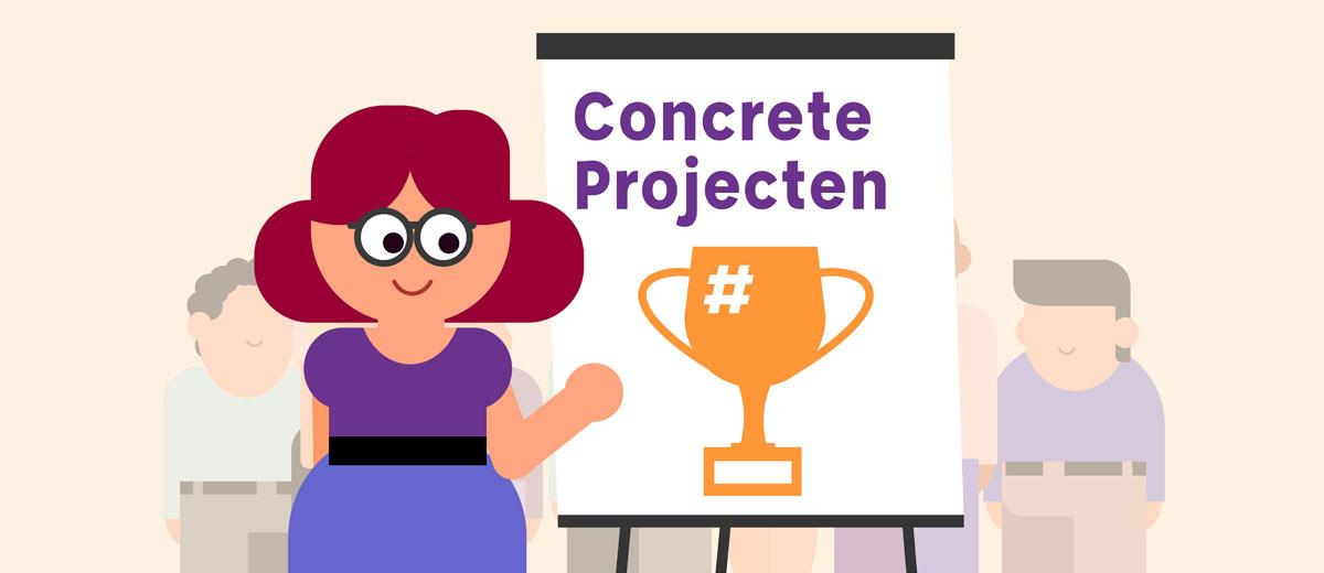 Concrete projecten door Coöperatiekring Amsterdam